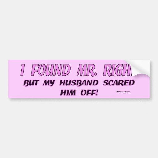 I Found Mr. Right Bumper Sticker Car Bumper Sticker