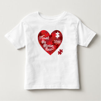 I Found My Missing Piece - Puzzle Heart Toddler T-shirt