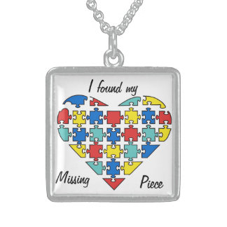I found my missing puzzle piece square pendant necklace