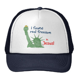 I found real freedom christian design mesh hat