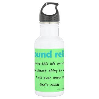 i found relief 18oz water bottle