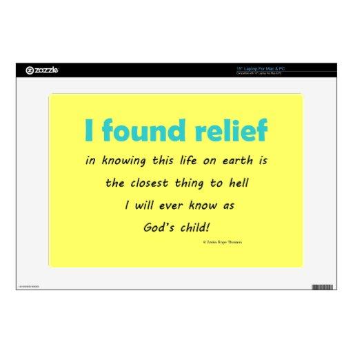 i found relief laptop decals