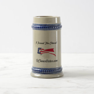 I Found the Cheese @CleverVoter.com Beer Stein