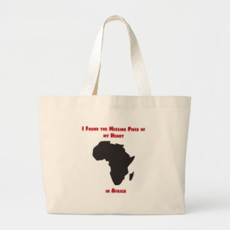 I Found the Missing Piece of my Heart in Africa Canvas Bag