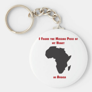 I Found the Missing Piece of my Heart in Africa Keychain