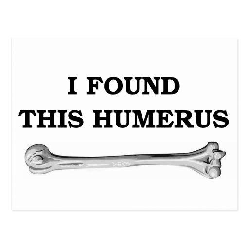 i found this humerus. postcards