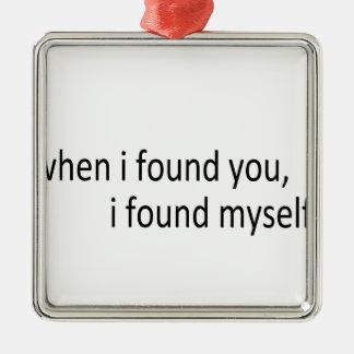 i found you christmas ornament