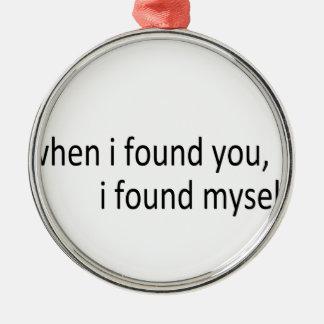i found you christmas tree ornaments