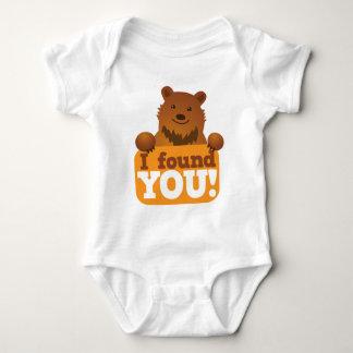 I FOUND YOU teddy bears picnic bear Baby Bodysuit