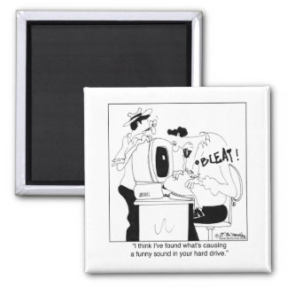 I Found Your Funny Sound 2 Inch Square Magnet