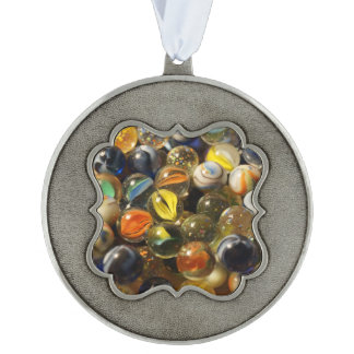 I Found your Marbles Scalloped Pewter Christmas Ornament