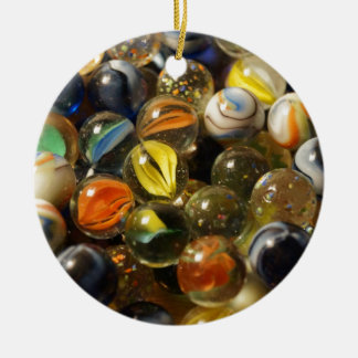 I Found your Marbles Double-Sided Ceramic Round Christmas Ornament