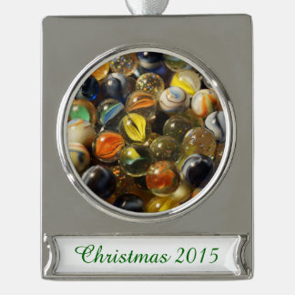 I Found your Marbles Silver Plated Banner Ornament