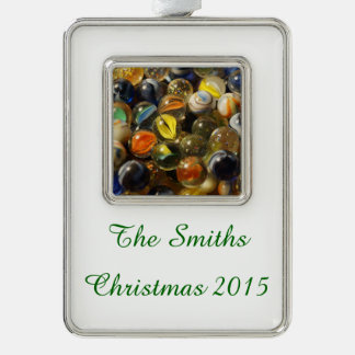 I Found your Marbles Silver Plated Framed Ornament
