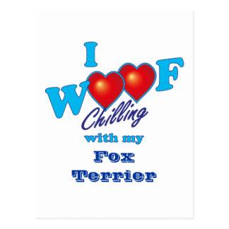 I fox terrier del tejido postal
