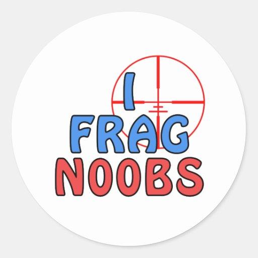 I Frag N00bs Classic Round Sticker
