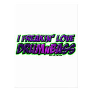 I Freakin Love DRUM and BASS music Postcard