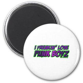 I Freakin Love PUNK BOYS punk rock punkrock girl Fridge Magnet
