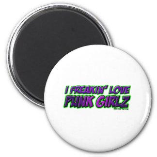I Freakin Love PUNK GIRLS punk rock punkrock girl Magnet
