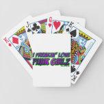 I Freakin Love PUNK GIRLS punk rock punkrock girl Playing Cards
