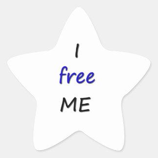 I free ME Star Sticker