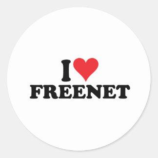 I freenet 1 del corazón pegatina redonda