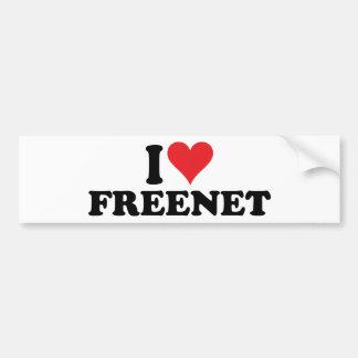 I freenet 1 del corazón pegatina para auto