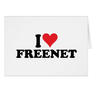 I freenet 1 del corazón tarjeta de felicitación