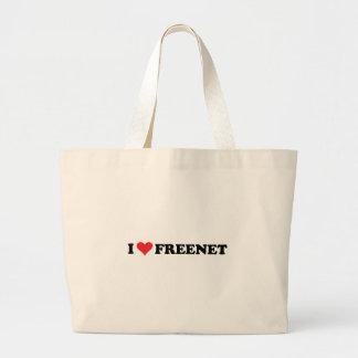 I freenet 2 del corazón bolsa de tela grande