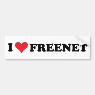 I freenet 2 del corazón pegatina para auto