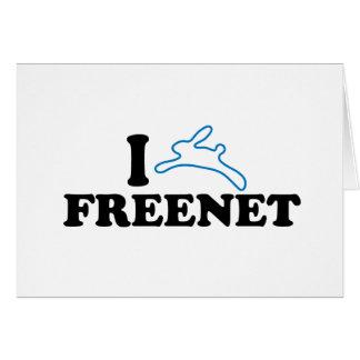 I freenet del conejito tarjeta de felicitación