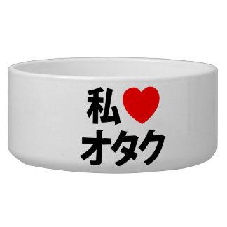 I friki del japonés del ~ de Otaku del corazón [am Tazones Para Perrros