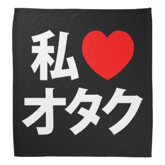 I friki del japonés del ~ de Otaku del corazón Bandanas