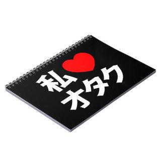 I friki del japonés del ~ de Otaku del corazón Libreta