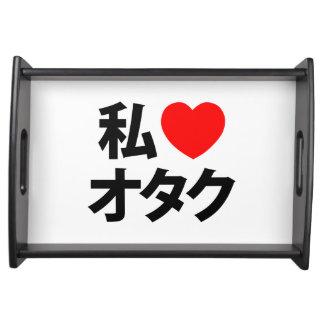 I friki del japonés del ~ de Otaku del corazón Bandeja