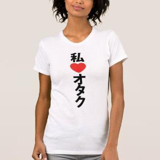 I friki del japonés del ~ de Otaku del corazón Playera