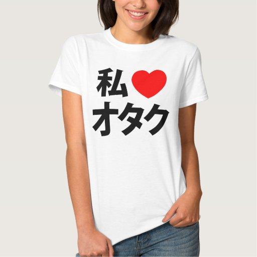 I friki del japonés del ~ de Otaku del corazón Remeras