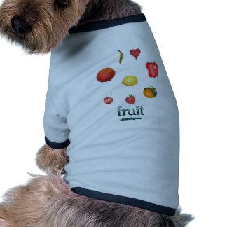 I fruta del corazón camiseta con mangas para perro