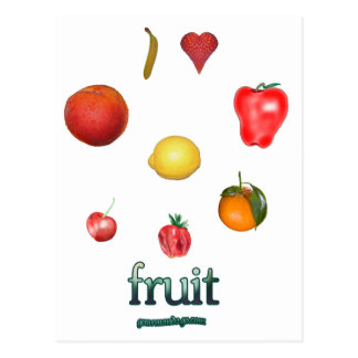 I fruta del corazón postales