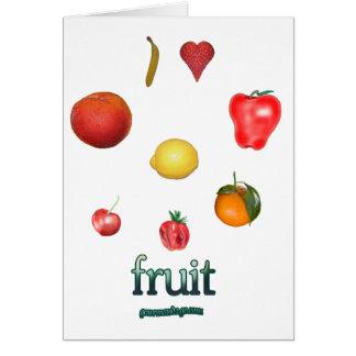 I fruta del corazón tarjeta de felicitación