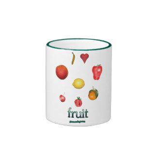 I fruta del corazón taza a dos colores