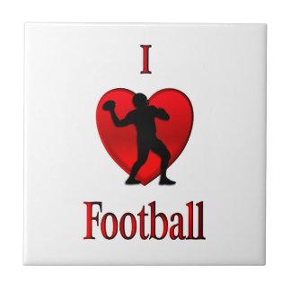 I fútbol del corazón azulejo cuadrado pequeño