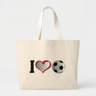 I fútbol del corazón bolsas de mano