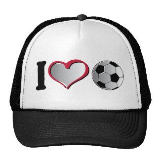 I fútbol del corazón gorras de camionero