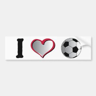 I fútbol del corazón pegatina para auto