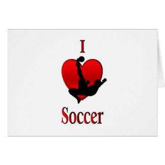I fútbol del corazón tarjeta pequeña
