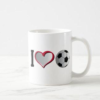 I fútbol del corazón taza básica blanca