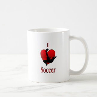 I fútbol del corazón taza de café