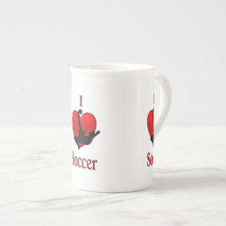 I fútbol del corazón taza de té