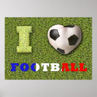 I fútbol Francia - poster del corazón